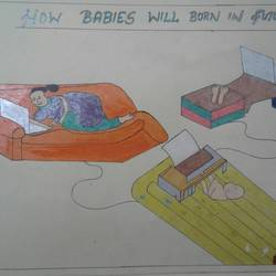 how babies will born in future, 11 x 17 inch, neha saini,11x17inch,drawing paper,drawings,photorealism drawings,paintings for office,acrylic color,pen color,GAL02682538637
