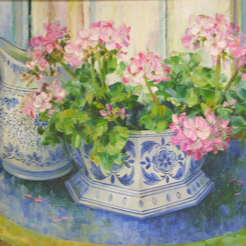 floral glory 2, 18 x 14 inch, jeeva  reddy,flower paintings,paintings for bedroom,canvas,oil paint,18x14inch,GAL014163868