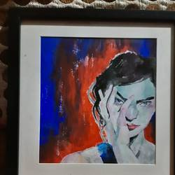 hands off, 18 x 21 inch, lavanya pant ,18x21inch,oil sheet,paintings,portrait paintings,realistic paintings,paintings for living room,paintings for bedroom,paintings for bathroom,paintings for kids room,paintings for hotel,paintings for school,watercolor,GAL02721238690