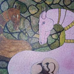 Ēkate, 20 x 20 inch, harini jagadish,20x20inch,canvas,paintings,abstract paintings,modern art paintings,animal paintings,contemporary paintings,horse paintings,paintings for dining room,paintings for living room,paintings for bedroom,paintings for office,paintings for kids room,paintings for hotel,paintings for kitchen,paintings for school,paintings for hospital,acrylic color,natural color,GAL02718138695