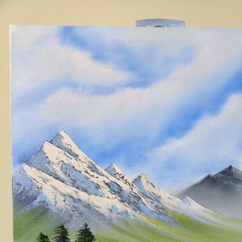 tranquil valley, 18 x 24 inch, arun  karara,18x24inch,canvas,paintings,landscape paintings,nature paintings | scenery paintings,paintings for dining room,paintings for living room,paintings for bedroom,oil color,GAL02694038723