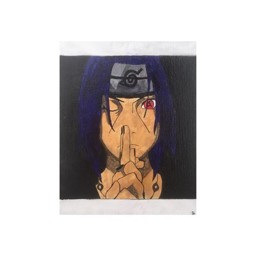 anime  itachi uchiha naruto, 7 x 9 inch, shreya chetan ,7x9inch,canvas,paintings,abstract paintings,portrait paintings,art deco paintings,expressionism paintings,photorealism,paintings for dining room,paintings for living room,paintings for bedroom,paintings for office,paintings for bathroom,paintings for kids room,paintings for hotel,paintings for kitchen,paintings for school,paintings for hospital,acrylic color,GAL02662438726