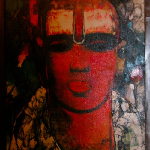 brahman, 20 x 24 inch, jeeva  reddy,figurative paintings,paintings for living room,canvas,oil,20x24inch,GAL014163873