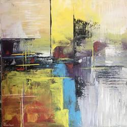 abstract art with knife, 14 x 14 inch, janhvi srivastava,14x14inch,canvas,paintings,abstract paintings,modern art paintings,multi piece paintings,art deco paintings,contemporary paintings,paintings for dining room,paintings for living room,paintings for bedroom,paintings for office,paintings for bathroom,paintings for kids room,paintings for hotel,paintings for kitchen,paintings for hospital,acrylic color,GAL02483838740
