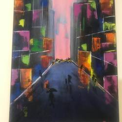 city heights, 15 x 22 inch, janhvi srivastava,15x22inch,canvas,paintings,abstract paintings,cityscape paintings,modern art paintings,conceptual paintings,art deco paintings,illustration paintings,street art,paintings for dining room,paintings for living room,paintings for bedroom,paintings for office,paintings for bathroom,paintings for kids room,paintings for hotel,acrylic color,GAL02483838742
