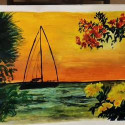 sunset, 12 x 17 inch, samiya parvez,12x17inch,cartridge paper,abstract paintings,flower paintings,landscape paintings,nature paintings | scenery paintings,illustration paintings,love paintings,paintings for dining room,paintings for living room,paintings for bedroom,paintings for office,paintings for kids room,paintings for hotel,paintings for school,paintings for dining room,paintings for living room,paintings for bedroom,paintings for office,paintings for kids room,paintings for hotel,paintings for school,watercolor,GAL02728338748