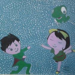 the  dancing couple, 8 x 12 inch, neha saini,8x12inch,drawing paper,paintings for living room,paintings for office,paintings for kids room,photorealism drawings,paintings for living room,paintings for office,paintings for kids room,acrylic color,pen color,GAL02682538796