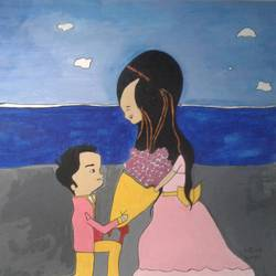 the proposal, 12 x 16 inch, neha saini,12x16inch,brustro watercolor paper,paintings for living room,paintings for bedroom,paintings for hotel,photorealism drawings,paintings for living room,paintings for bedroom,paintings for hotel,acrylic color,pen color,GAL02682538798