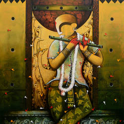 the mesmerizing tunes 10, 48 x 60 inch, anupam  pal,48x60inch,canvas,paintings,abstract paintings,radha krishna paintings,paintings for dining room,paintings for living room,paintings for bedroom,paintings for office,paintings for bathroom,paintings for kids room,paintings for hotel,paintings for kitchen,paintings for school,paintings for hospital,acrylic color,GAL08238810
