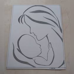 mother's love, 15 x 11 inch, neha kulkarni,15x11inch,drawing paper,drawings,abstract drawings,abstract expressionism drawings,art deco drawings,fine art drawings,paintings for living room,paintings for bedroom,paintings for kids room,paintings for school,paintings for hospital,pencil color,paper,GAL02734438814