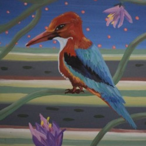 bird-2, 16 x 18 inch, sanjay moosaramthota,16x18inch,canvas,paintings,figurative paintings,nature paintings | scenery paintings,contemporary paintings,paintings for dining room,paintings for living room,paintings for bedroom,paintings for office,paintings for kids room,paintings for hotel,paintings for school,paintings for hospital,acrylic color,GAL02723338825