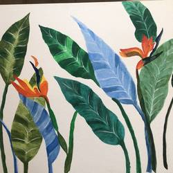 bird of paradise, 26 x 24 inch, reema dsouza,26x24inch,canvas,abstract paintings,flower paintings,paintings for dining room,paintings for living room,paintings for bedroom,paintings for office,paintings for hotel,paintings for hospital,paintings for dining room,paintings for living room,paintings for bedroom,paintings for office,paintings for hotel,paintings for hospital,acrylic color,GAL02735838840