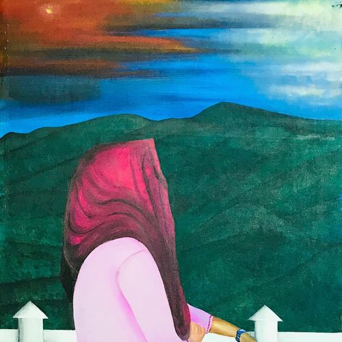 hope., 16 x 36 inch, binu  m,16x36inch,canvas,paintings,conceptual paintings,acrylic color,GAL02665638843