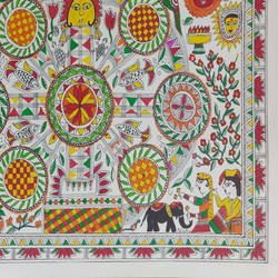 "madhubani painting ""kohbar"", 12 x 17 inch, nishi saxena,12x17inch,drawing paper,folk art paintings,madhubani paintings 