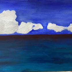 calmness of the sea, 30 x 20 inch, jyoti sharma,30x20inch,canvas,paintings,nature paintings | scenery paintings,acrylic color,GAL02638238866