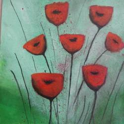a peice of flower stick, 11 x 16 inch, popo singh,paintings for living room,flower paintings,canvas,watercolor,11x16inch,GAL013293891