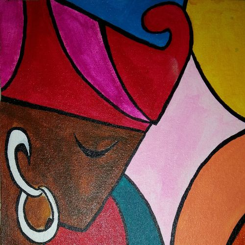 tribal girl in a festival show, 10 x 18 inch, popo singh,paintings for living room,abstract paintings,canvas,watercolor,10x18inch,GAL013293894