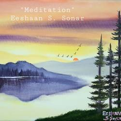 meditation, 24 x 18 inch, eeshaan sonar,24x18inch,canvas,paintings,landscape paintings,paintings for dining room,paintings for living room,paintings for bedroom,paintings for office,paintings for hotel,acrylic color,GAL02722838957