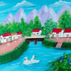 village landscape painting, 16 x 12 inch, veena nandavaram,16x12inch,canvas board,paintings,flower paintings,foil paintings,landscape paintings,still life paintings,nature paintings | scenery paintings,art deco paintings,water fountain paintings,paintings for dining room,paintings for living room,paintings for bedroom,paintings for office,paintings for kids room,paintings for hotel,paintings for kitchen,paintings for school,paintings for hospital,paintings for dining room,paintings for living room,paintings for bedroom,paintings for office,paintings for kids room,paintings for hotel,paintings for kitchen,paintings for school,paintings for hospital,acrylic color,GAL02687038961