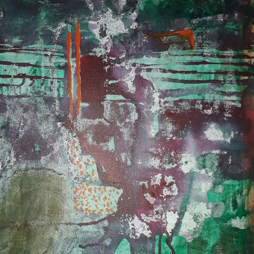 kailas top view , 15 x 22 inch, kirti sharma ,abstract paintings,paintings for dining room,canvas board,enamel color,15x22inch,GAL014053901
