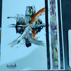 abstract 5, 15 x 12 inch, arvind kumar gupta,15x12inch,thick paper,paintings,abstract paintings,paintings for dining room,paintings for living room,paintings for hotel,paintings for school,paintings for hospital,acrylic color,paper,GAL02596639016