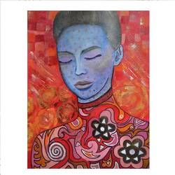 blissful , 14 x 12 inch, vindhya acharya,14x12inch,canvas,paintings,abstract paintings,figurative paintings,modern art paintings,portrait paintings,art deco paintings,paintings for living room,paintings for hotel,acrylic color,GAL02394639038