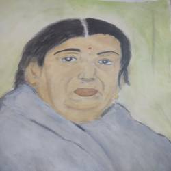 lata mangeshkar, 17 x 12 inch, suresh yadav,17x12inch,drawing paper,figurative paintings,portrait paintings,realistic paintings,mother teresa paintings,paintings for dining room,paintings for living room,paintings for office,paintings for hospital,paintings for dining room,paintings for living room,paintings for office,paintings for hospital,watercolor,GAL02620939040