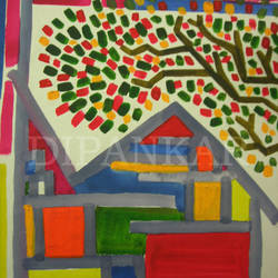 home sweet home, 11 x 15 inch, dipankar lahiri,11x15inch,thick paper,paintings,abstract paintings,watercolor,GAL02288339094