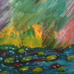 flow of life, 15 x 11 inch, dipankar lahiri,15x11inch,thick paper,paintings,abstract paintings,watercolor,GAL02288339095