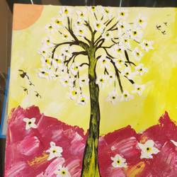 3d flower tree, 14 x 10 inch, arvind kumar gupta,14x10inch,thick paper,paintings,abstract paintings,modern art paintings,nature paintings | scenery paintings,abstract expressionism paintings,paintings for dining room,paintings for living room,paintings for office,paintings for hotel,paintings for kitchen,paintings for school,paintings for hospital,acrylic color,paper,GAL02596639100