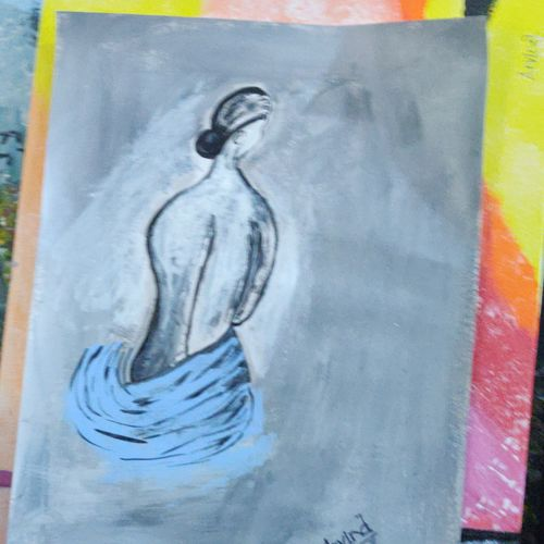 bathing beauty, 18 x 12 inch, arvind kumar gupta,18x12inch,drawing paper,paintings,abstract paintings,modern art paintings,abstract expressionism paintings,paintings for dining room,paintings for living room,paintings for bedroom,paintings for office,paintings for bathroom,paintings for hotel,paintings for school,paintings for hospital,acrylic color,paper,GAL02596639108