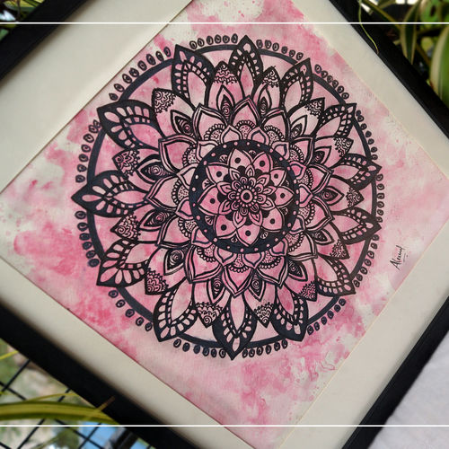 mandala  with pink background, 13 x 15 inch, aleena  merin thomas,13x15inch,brustro watercolor paper,drawings,abstract drawings,abstract expressionism drawings,art deco drawings,conceptual drawings,cubism drawings,dada drawings,documentary drawings,expressionism drawings,figurative drawings,fine art drawings,folk drawings,graffiti drawings,illustration drawings,impressionist drawings,minimalist drawings,modern drawings,photorealism drawings,pop art drawings,portrait drawings,realism drawings,street art,surrealism drawings,radha krishna drawings,buddha drawings,kids drawings,islamic calligraphy drawing,ganesha drawings,paintings for dining room,paintings for living room,paintings for bedroom,paintings for office,paintings for bathroom,paintings for kids room,paintings for hotel,paintings for kitchen,paintings for school,paintings for hospital,acrylic color,charcoal,fabric,ink color,instant batik,mixed media,natural color,pastel color,pencil color,poster color,watercolor,paper,GAL02755839118