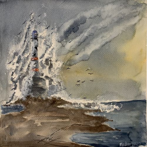 lashing oceans , 16 x 11 inch, madhur  srivastav ,16x11inch,thick paper,landscape paintings,nature paintings | scenery paintings,paintings for dining room,paintings for living room,paintings for bedroom,paintings for office,paintings for hotel,paintings for hospital,paintings for dining room,paintings for living room,paintings for bedroom,paintings for office,paintings for hotel,paintings for hospital,watercolor,GAL02756839126
