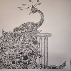 the tale of wonders, 11 x 15 inch, zahra tambawala,11x15inch,thick paper,paintings for living room,art deco drawings,paintings for living room,ball point pen,GAL02752439143