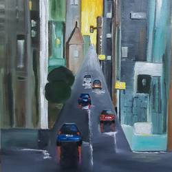 citylife 2, 16 x 20 inch, shikha gupta,16x20inch,canvas,paintings,abstract paintings,cityscape paintings,landscape paintings,modern art paintings,impressionist paintings,contemporary paintings,paintings for dining room,paintings for living room,paintings for bedroom,paintings for office,paintings for hotel,paintings for school,paintings for hospital,oil color,GAL02750339153