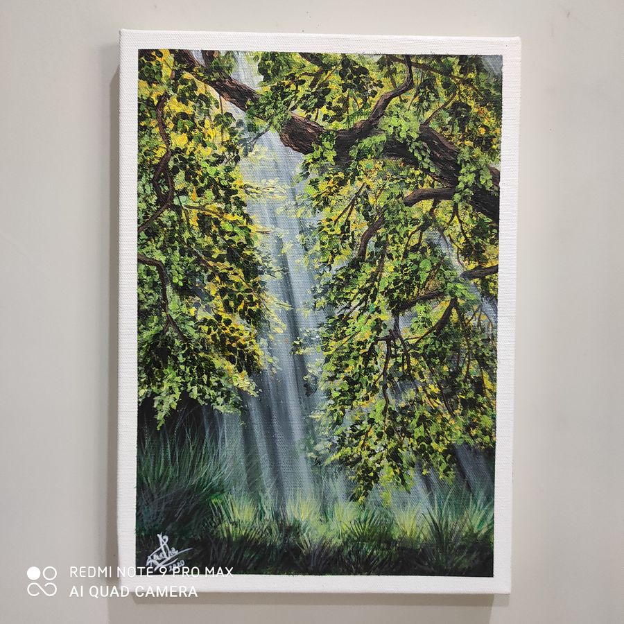 tyndall effect, 10 x 14 inch, radha g,10x14inch,canvas,paintings,landscape paintings,acrylic color,GAL02759539157