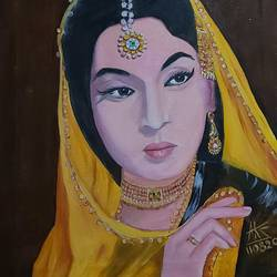 indian beauty , 24 x 19 inch, ashok sharma,24x19inch,canvas,paintings,portrait paintings,portraiture,oil color,GAL02758339165