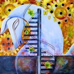 motion of life 5, 32 x 32 inch, susmita mandal,32x32inch,canvas,paintings,abstract paintings,paintings for living room,paintings for bedroom,paintings for office,paintings for hotel,acrylic color,GAL01940539178