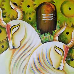 rishavnath (p-2), 33 x 36 inch, susmita mandal,33x36inch,canvas,paintings,religious paintings,paintings for living room,paintings for bedroom,paintings for office,paintings for hotel,acrylic color,GAL01940539179