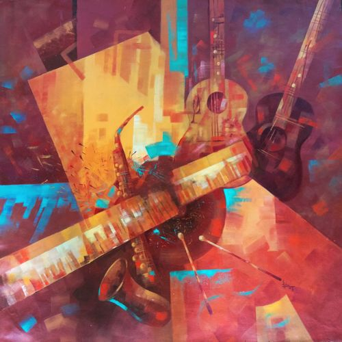 rhythm, 28 x 28 inch, lisha  n t,28x28inch,canvas,impressionist paintings,paintings for dining room,paintings for living room,paintings for bedroom,paintings for office,paintings for kids room,paintings for hotel,paintings for kitchen,paintings for school,paintings for hospital,paintings for dining room,paintings for living room,paintings for bedroom,paintings for office,paintings for kids room,paintings for hotel,paintings for kitchen,paintings for school,paintings for hospital,acrylic color,GAL02392939199