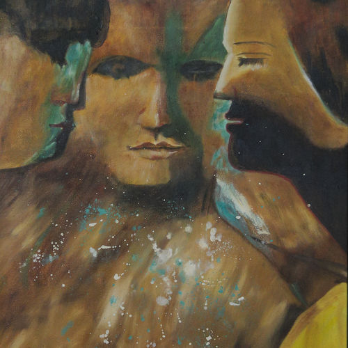 trinity, 16 x 18 inch, shikha gupta,16x18inch,canvas,paintings,abstract paintings,figurative paintings,modern art paintings,conceptual paintings,contemporary paintings,love paintings,paintings for dining room,paintings for living room,paintings for bedroom,paintings for office,paintings for hotel,paintings for school,paintings for hospital,oil color,GAL02750339210