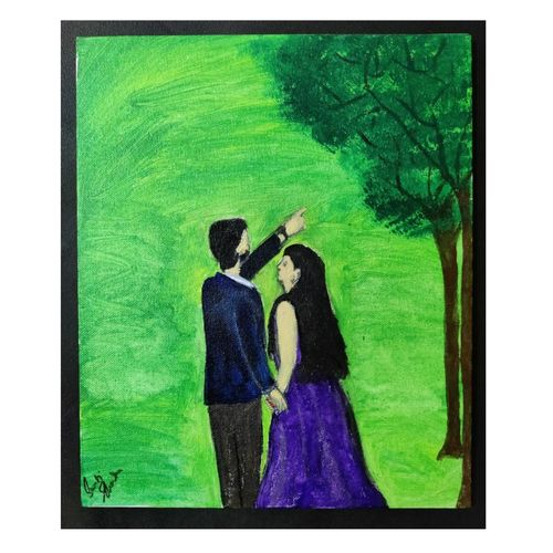 made for each other, 10 x 12 inch, swati sharma,10x12inch,canvas,paintings,love paintings,paintings for living room,paintings for bedroom,acrylic color,GAL02745839212