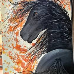 black horse, 18 x 24 inch, ninad mantri,18x24inch,canvas board,abstract paintings,wildlife paintings,modern art paintings,realistic paintings,horse paintings,paintings for dining room,paintings for living room,paintings for bedroom,paintings for office,paintings for kids room,paintings for hotel,paintings for kitchen,paintings for school,paintings for hospital,paintings for dining room,paintings for living room,paintings for bedroom,paintings for office,paintings for kids room,paintings for hotel,paintings for kitchen,paintings for school,paintings for hospital,acrylic color,GAL02657839221