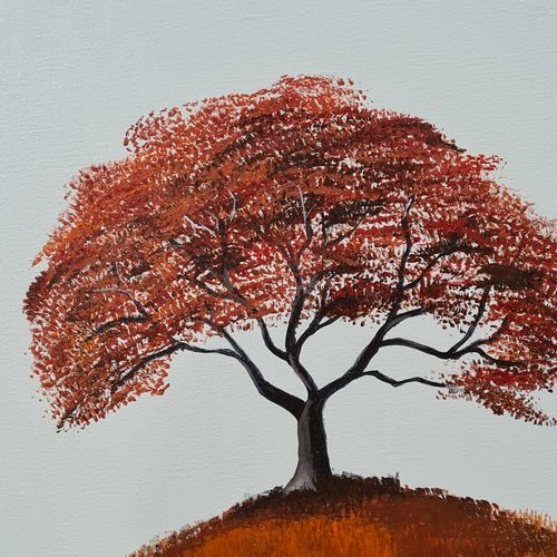 autumn tree, 16 x 20 inch, ninad mantri,16x20inch,canvas,paintings,abstract paintings,landscape paintings,modern art paintings,nature paintings   scenery paintings,paintings for dining room,paintings for living room,paintings for office,paintings for bathroom,paintings for hotel,paintings for school,paintings for hospital,acrylic color,GAL02657839224