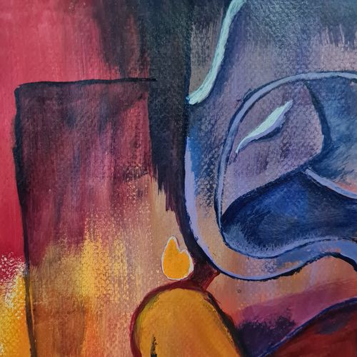 lord ganesh painting , 8 x 12 inch, ninad mantri,8x12inch,canson paper,paintings,abstract paintings,modern art paintings,religious paintings,ganesha paintings   lord ganesh paintings,paintings for dining room,paintings for living room,paintings for bedroom,paintings for office,paintings for kids room,paintings for hotel,paintings for school,paintings for hospital,acrylic color,GAL02657839227