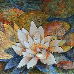 lotus , 30 x 36 inch, kirti sharma ,flower paintings,paintings for office,ply board,acrylic color,30x36inch,GAL014053927