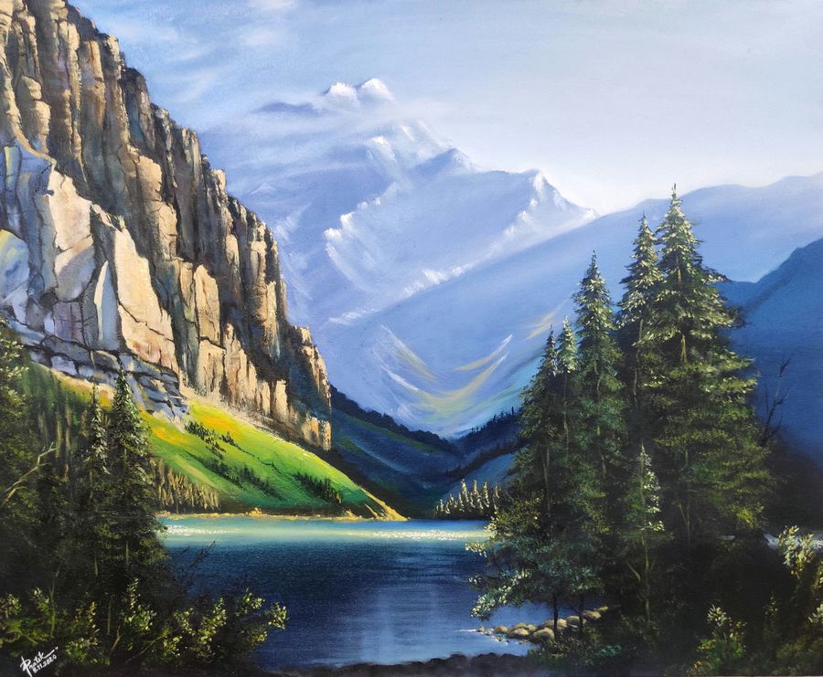 landscape, 24 x 30 inch, pratik tambe,24x30inch,canvas board,paintings,landscape paintings,nature paintings | scenery paintings,paintings for dining room,paintings for living room,paintings for bedroom,paintings for office,paintings for bathroom,paintings for kids room,paintings for hotel,paintings for kitchen,paintings for school,paintings for hospital,oil color,GAL02770239276