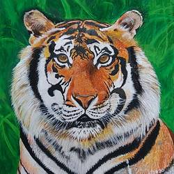 tiger, 21 x 28 inch, shyam savale,21x28inch,thick paper,animal paintings,paintings for living room,paintings for office,paintings for hotel,paintings for living room,paintings for office,paintings for hotel,acrylic color,mixed media,paper,GAL02771239279
