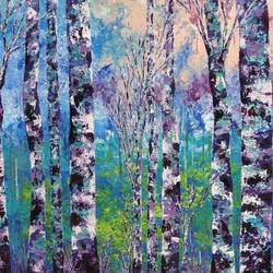 purple forest, 24 x 20 inch, shilpi singh patel,nature paintings,paintings for office,canvas board,acrylic color,24x20inch,GAL04553928Nature,environment,Beauty,scenery,greenery