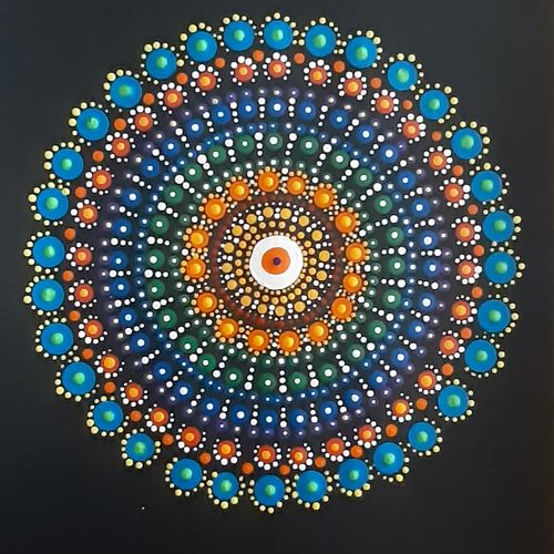 vibrant dot art, 8 x 8 inch, radha s,8x8inch,thick paper,paintings,expressionism paintings,paintings for dining room,paintings for living room,paintings for bedroom,paintings for office,paintings for bathroom,paintings for kids room,paintings for hotel,paintings for kitchen,paintings for school,paintings for hospital,acrylic color,paper,GAL02760139297